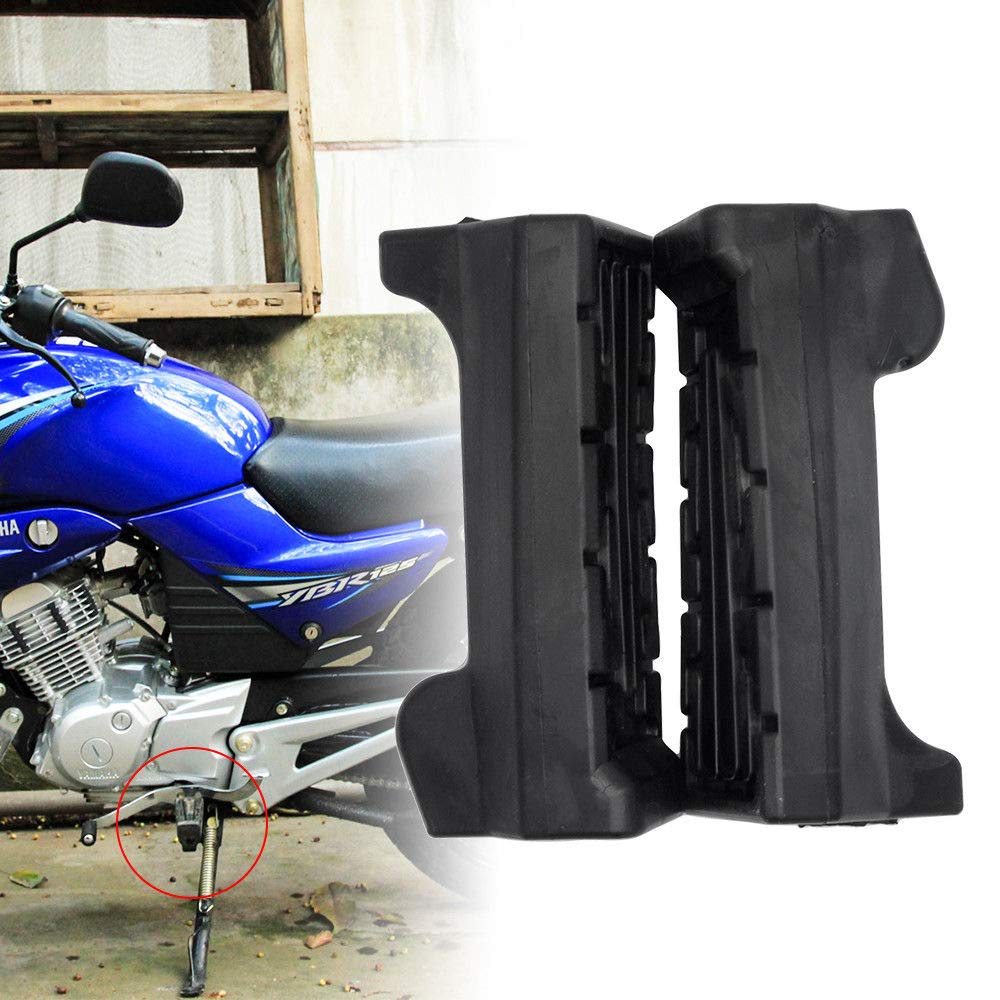 Black MASO Pair Motorcycle Front Foot Rest Peg Footpegs Motorcycle Footrest Rubbers for YBR 125