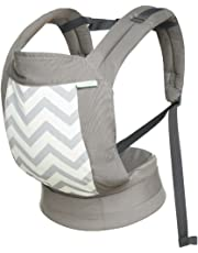 Cotton Baby Carriers, Comfortable and Ergonomic Baby&Child Carrier, Multi-Position Baby Carrier, Soft Breathable Carrier (Grey)