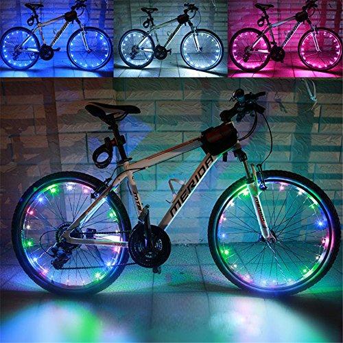 - Baiyu USB Rechargeable Bike Bicycle Spoke Lights Waterproof 2 Modes Cycling Wheel Tire Lights Steel Wire rim 20 LED Flash Light / Lamp Bike Accessory (Including batteries) -- Multi