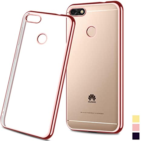 nuovo di zecca 5a46d 83aa7 achoTREE Cover Huawei Y6 Pro 2017, Placcatura Morbida ...