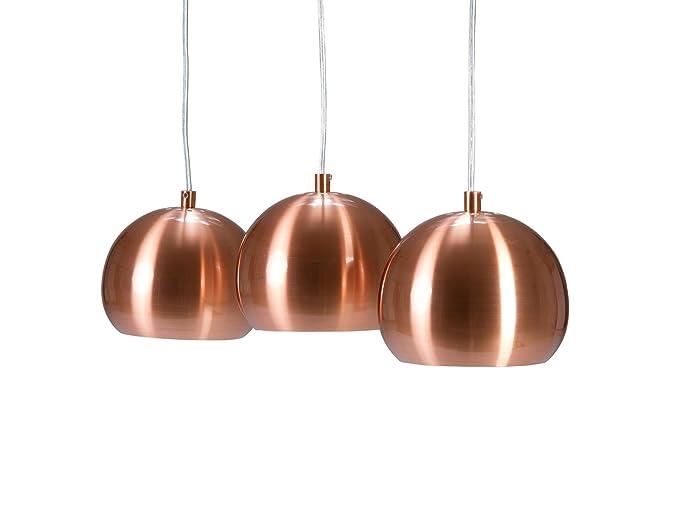 Lampada In Rame Design : Interior invicta set da lampade a sospensione in rame a forma
