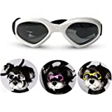 Homesupplier Dog Goggles Doggie Sunglasses for Small Medium Pets Dogs Glasses Puppy Eyewear Windproof UV Protection, Vet Recommended Eye Protection