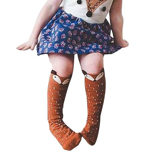 9ef9c95db41fd6 SUNBIBE👻 Cute Toddler Kids 0-6 Years Old Baby Girls Cotton Fox Pattern  Hosiery