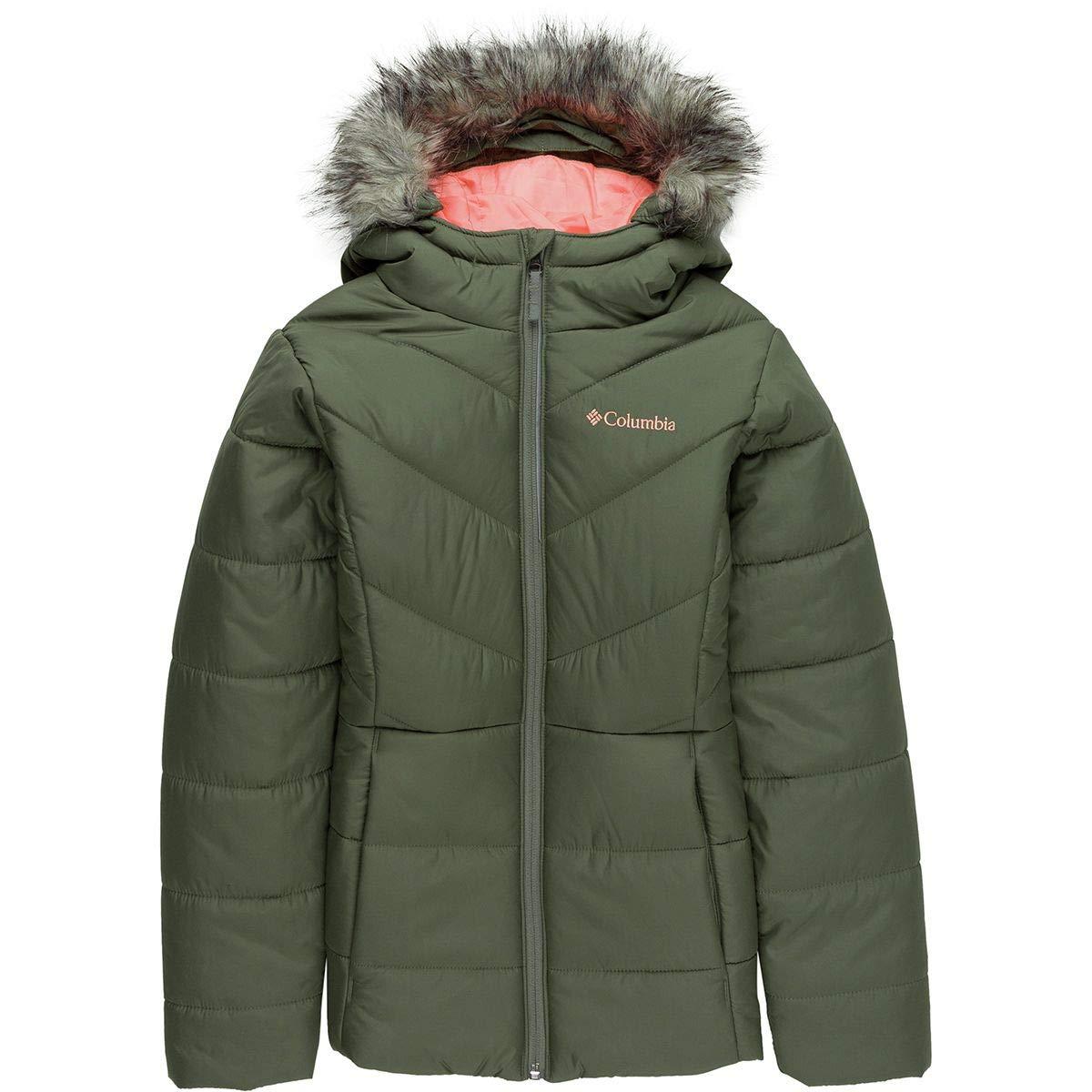 Columbia Kids Girl's Katelyn Crest¿ Jacket (Little Kids/Big Kids) Cypress/Tiki Pink Large