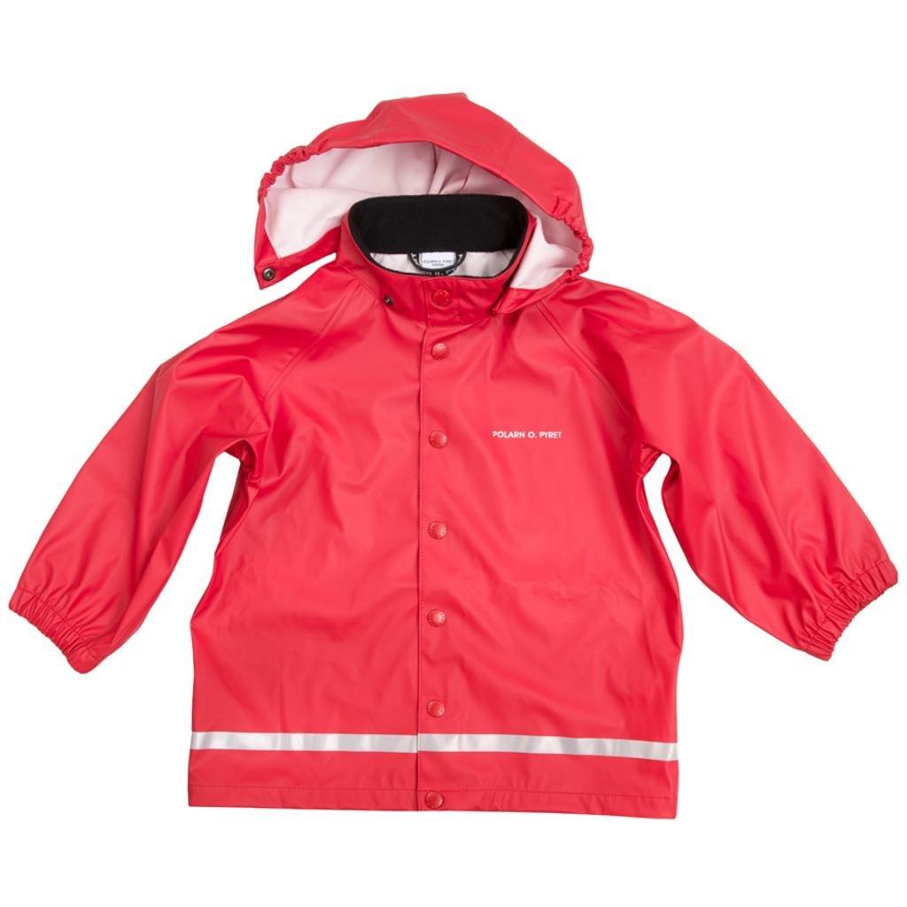 Polarn O. Pyret Classic RED RAIN Jacket (6-8YRS) - Ski Patrol/6-8 Years