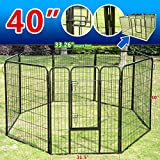 Pingkay 40″ 8 Panel Heavy Duty Pet Dog Portable Exercise Playpen­