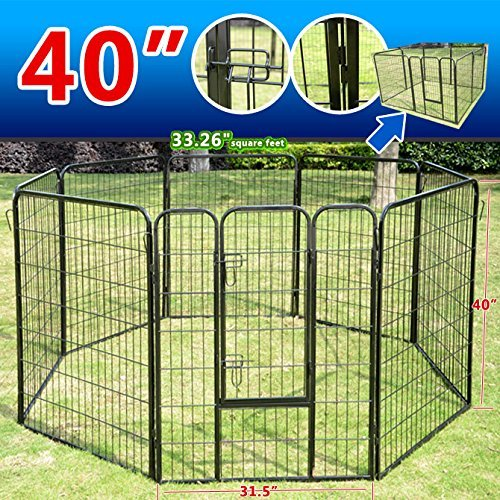 Pingkay 40'' 8 Panel Heavy Duty Pet Dog Portable Exercise Playpen by Pingkay