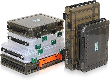 YKWYQ Cajas para Aparejos Cebo de Pesca Caja de Doble Cara de la Caja plástica de Cebo con Caja de Almacenamiento Suministros Accesorios (Size : Box 5): Amazon.es: Deportes y aire libre