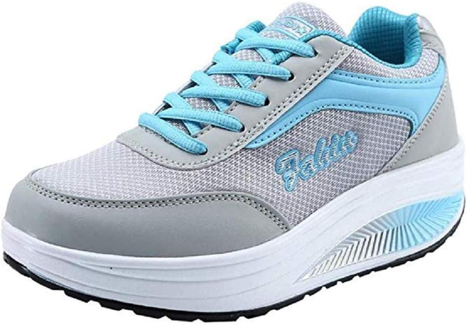 POLPqeD - Zapatillas de Deporte para Mujer - Casual - Cordones de ...