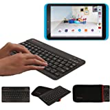 "TECHGEAR® [Active Strike (M)] Slim Line Bluetooth Wireless UK Keyboard With Keyboard Carry Case Cover for Tesco Hudl 2 (8.3"") - BLACK"
