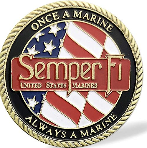 USMC Challenge Coin - Semper Fi - Once a Marine Always a Marine & Corps Values' ()