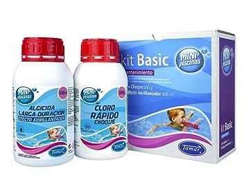 Tamar - Kit Básico Mantenimiento Mini Piscinas, Especial para piscinas Liner.