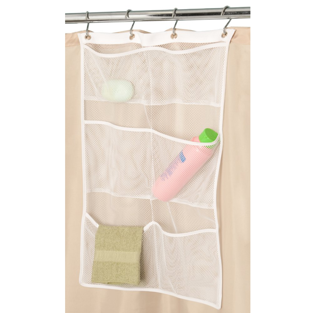 Amazon.com: Maytex Quick Dry Mesh Pockets Fabric Bath / Shower Caddy ...