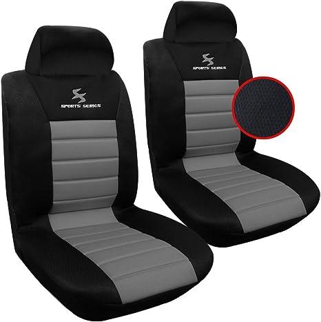 Nero APRAMO Coprisedili Anteriori Auto Set di 2 Posti Seat Cover Protezioni Universali