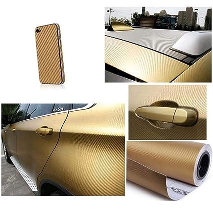 3D Carbon Fiber Auto Car Sticker Vinyl Decal Wrap Sheet Roll Film DIY