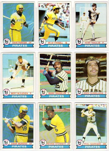 Pittsburgh Pirates 1979 Topps Baseball Team Set (World Series Champions) (27 Cards) (Willie Stargell) (Dave Parker) (Kent Tekulve) (Bert Blyleven) (Manny Sanguillen) (John Candelaria) (Rennie Stennett) (Phil ()