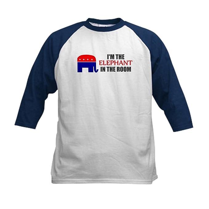 750d3987265014 CafePress - Republican Elephant Symbol GO Kids Baseball Jersey - Kids  Cotton Baseball Jersey