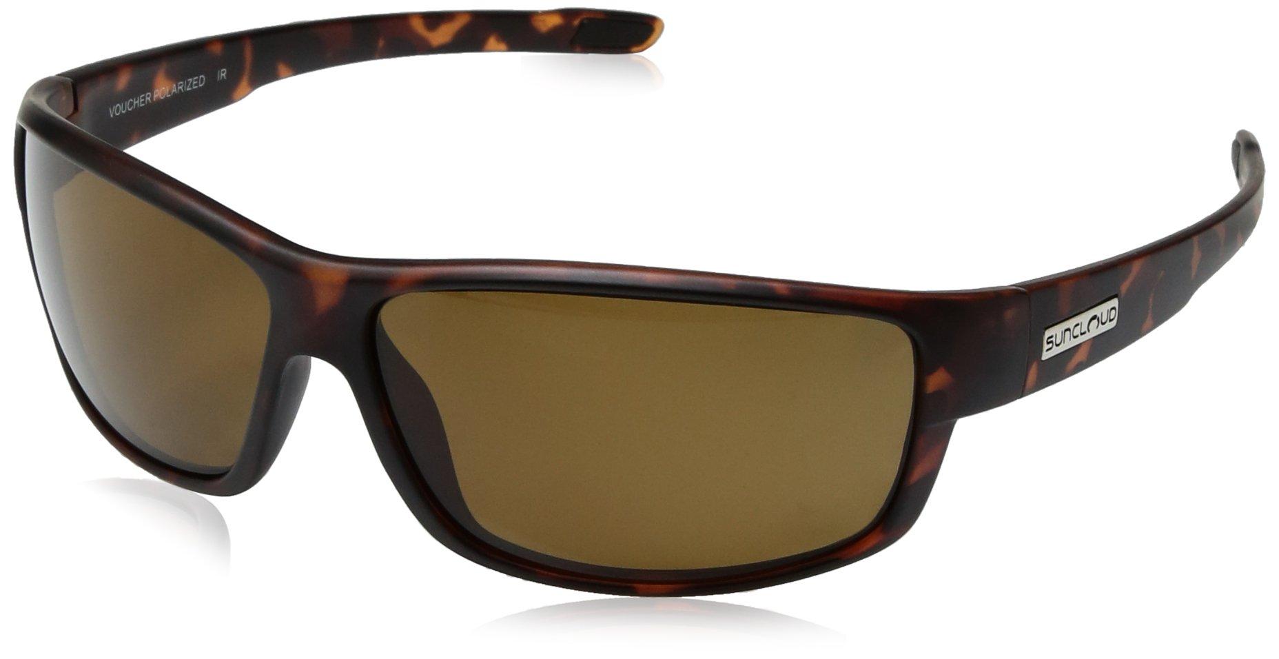 Suncloud Voucher Sunglasses, Matte Tortoise Frame/Brown Polycarbonate Lens, One Size by Suncloud