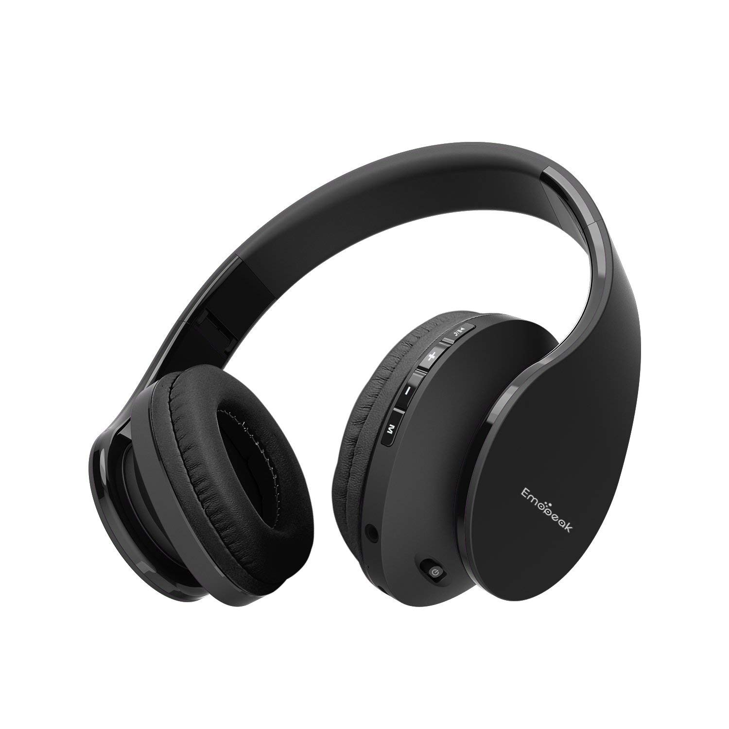 Wireless Bluetooth Headphones Over Ear, Emopeak Q5 Wireless Headsets, Hi-Fi Stereo, Foldable, Soft Memory, Protein Earmuffs, Built-in Microphone and Wired Mode for PC/Cell Phones/TV