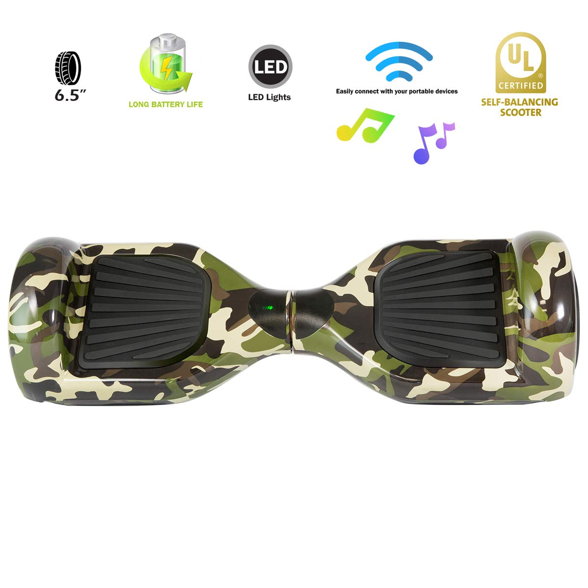XPRIT Easter Sale Hoverboard w/Bluetooth Speaker (Camouflage) by XPRIT (Image #3)