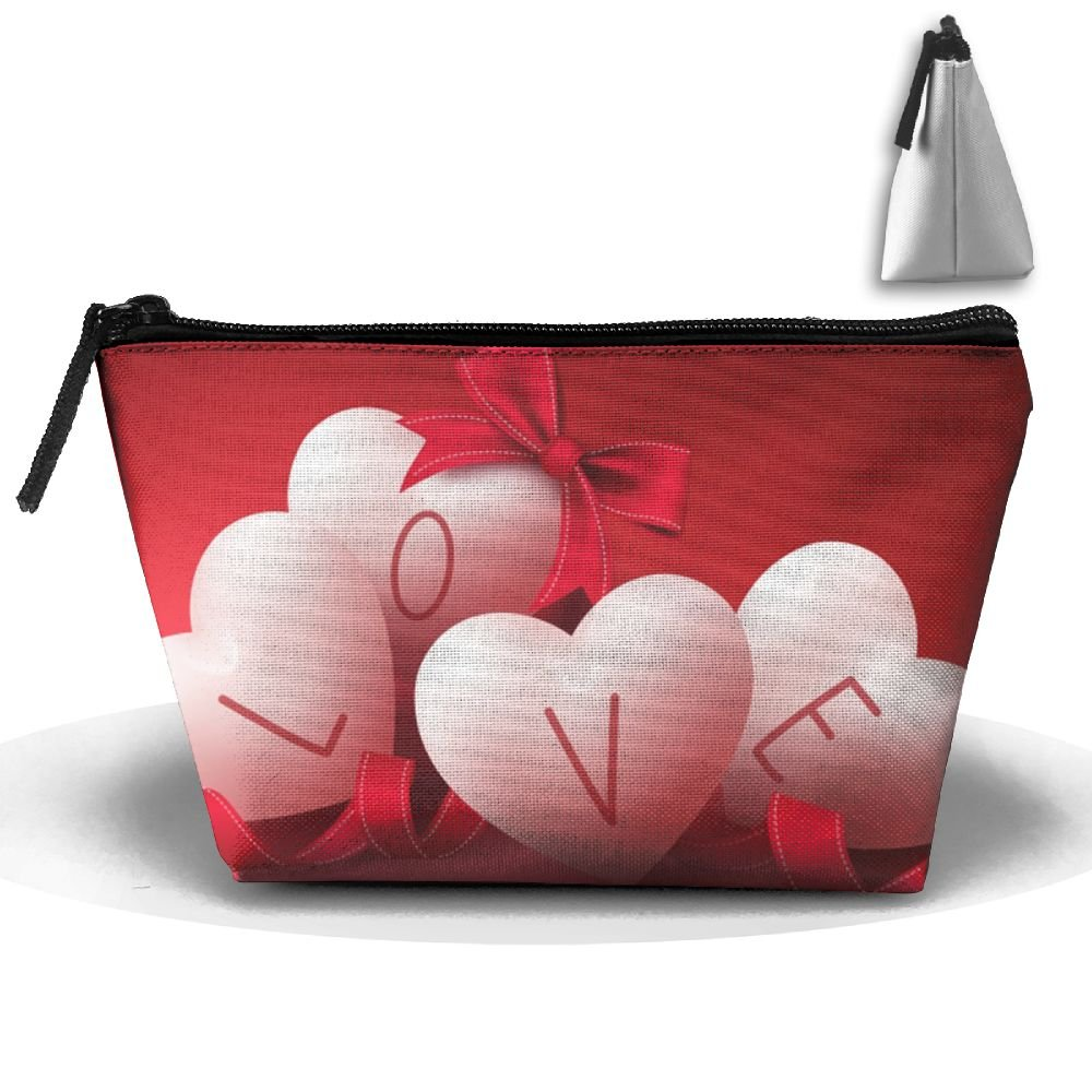 Love-valentine-s-day High-capacity Storage Bag Multi-purpose Storage Bag Portable Bag Trapezoidal Storage Bag