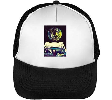 5aa39e68109 1GD LSD Trip to Moon Men s Baseball Trucker Cap Hat Snapback Black ...
