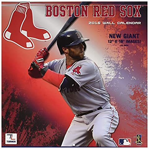 Turner Boston Red Sox 2016 Team Wall Calendar, September 2015 - December 2016, 12 x 12