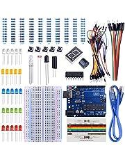 UNIROI Arduino Uno R3 Starter Kit with Tutorials, Frame Sensor, 1 Digit 7-segment Display, Resistance Card, Breadboard, 65 Jumper Wire (147 Items in a Plastic Box) UA002 (2)