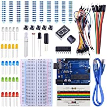 UNIROI UNO Starter Kit for Arduino with Free Tutorials, Frame Sensor, 1 Digit 7-Segment Display, Resistance Card, Breadboard, 65 Jumper Wire and Buzzer (147 Items with case) UA002 (Arduino Kit)