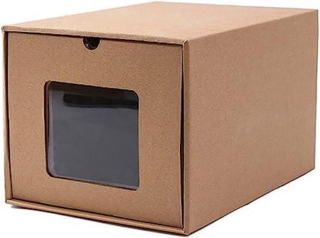 fuluomei FLM Cajas de Almacenaje Plegable - Cajas de Zapatos Transparente Apilable para Hombre y Mujer,30 x 21 x 18.5 cm: Amazon.es: Hogar