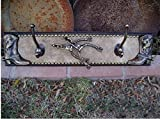 Boots, Spurs & Rowels Wood & Cowhide Hook Rack
