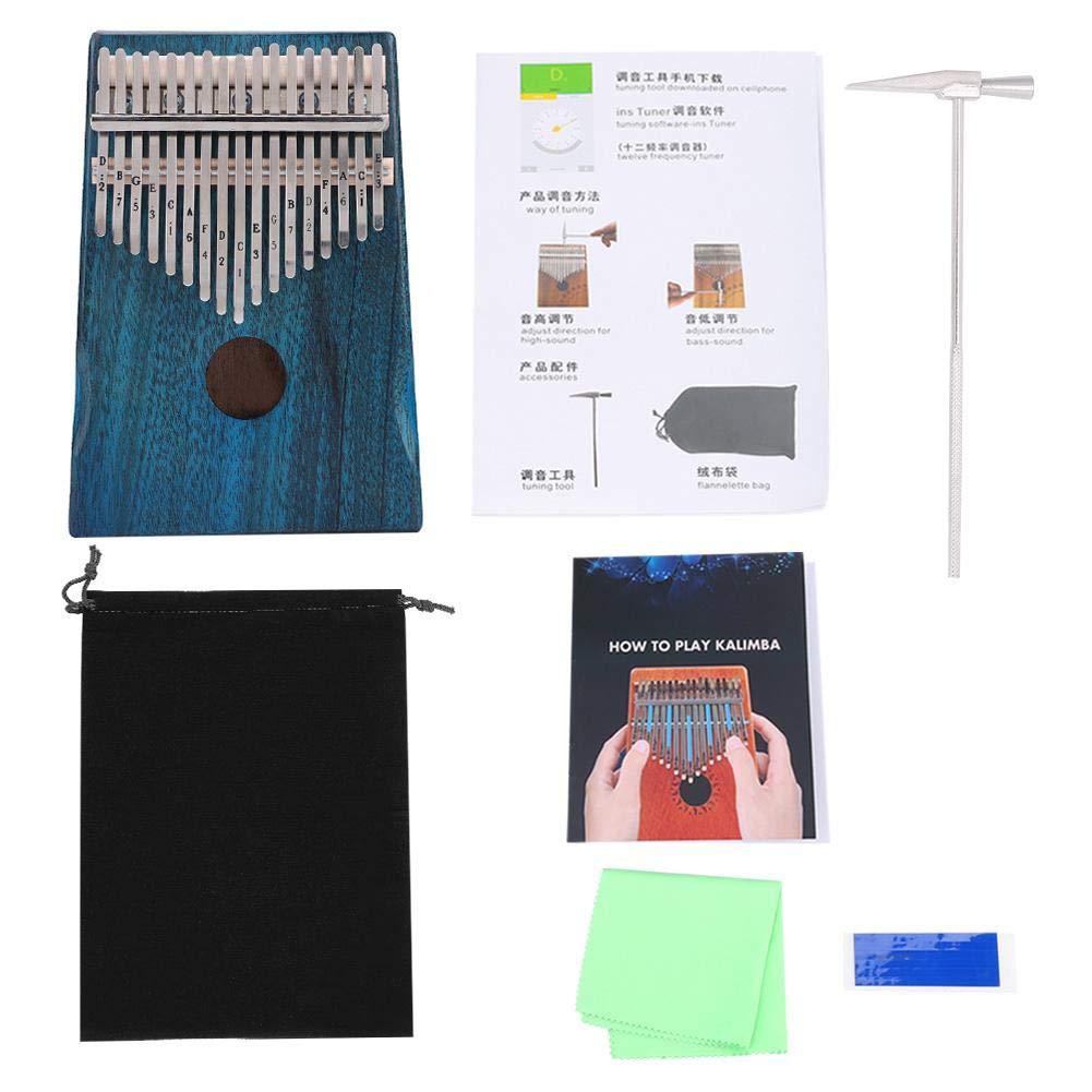 Xinwoer Musical Instruments Accessory17-Key Kalimba Portable,Thumb Piano Mahogany Wooden Body Musical Instrument by Xinwoer