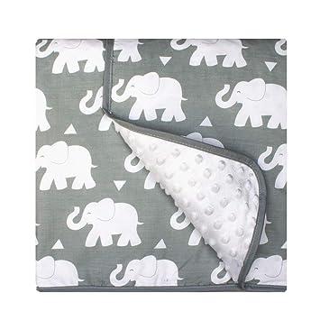 Amazon.com: Pam Grace Creaciones Indie elefante manta de ...