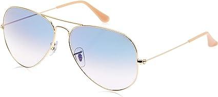 Ray-Ban Clásico Aviador Gafas De Sol En Arista Oro Cristal Azul degradado Rb3025001/3F 62