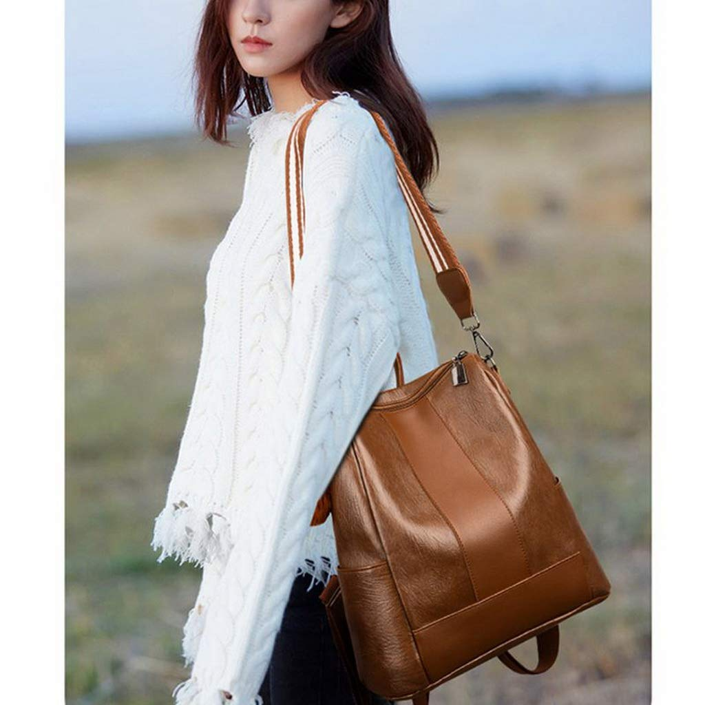 Retro Waterproof PU Leather Shoulder Bag Anti Theft bag Backpack for Women Girls Travel Use Birthday Gifts