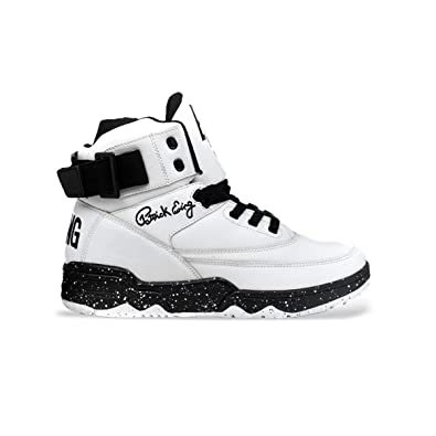 a155c683b51 Amazon.com | PATRICK EWING Athletics 33 HI White/Black Speckle 1BM00147-120  | Shoes