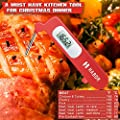Habor Food Thermometer, Meat Thermometer Kitchen Instant Read Thermometer with Digital LCD, Folding Long Probe for BBQ Grill Smokers Kitchen Chicken Cake Brewing Milk from Habor