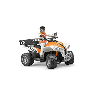 Bruder Quad with Driver (Colors May Vary): Toys & Games