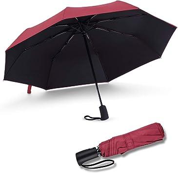 8675 Waterproof Cloth Rain Umbrella Compact Folding Automatic Travel UV