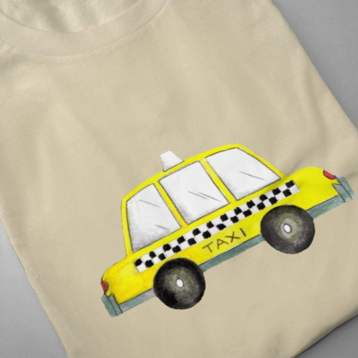 Seuriamin Taxi NYC Yellow New York City Checkered Cab Car Mens Fashion Athletic Short Sleeve Tee