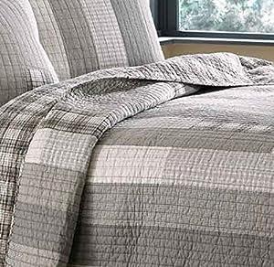 Eddie Bauer Fairview 3-Piece Cotton Reversible Quilt Set, Full/Queen from Eddie Bauer