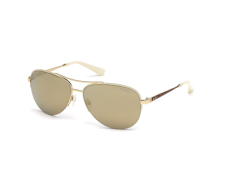 59d3c8aa97e9 Amazon.com  GUESS Women s Gu7468 Aviator Sunglasses
