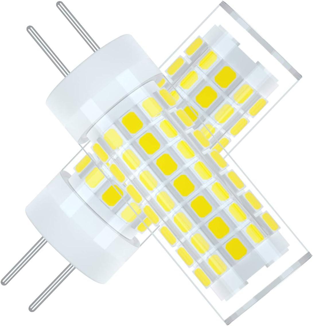 Ymm G6.35 GY6.35 Alto Brillo Bombilla LED 6W Equivalente a Lámpara Halógena de 75W,AC 95V-240V,Blanco Frio 6000K (2 unidades) [Clase de eficiencia energética A+]