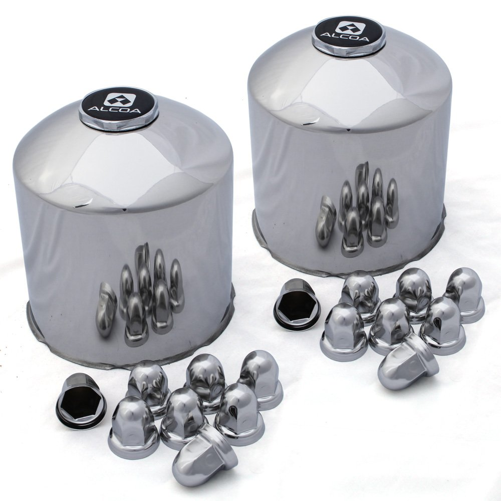 Alcoa Rear Stainless Steel Cover System for 8 on 275mm (33mm Lug Nuts)