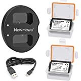 NP-FW50 Newmowa Replacment Battery (2 Pack) and Dual USB Charger for Sony NP-FW50 and Sony Alpha a3000,Alpha a6000,A6300,Cyber-Shot DSC-RX10 …