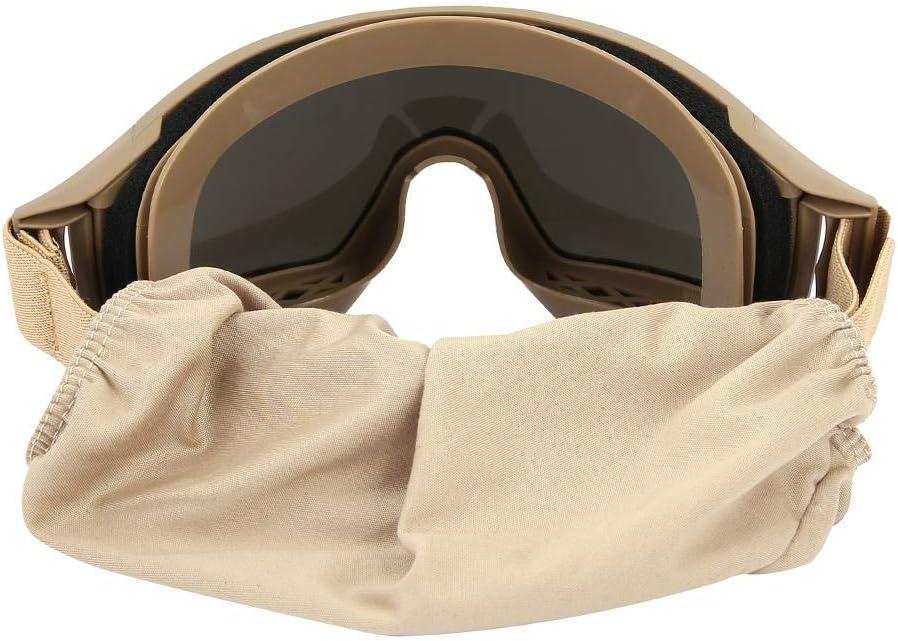 Tactics Goggles Antipolvo antiniebla Gafas Protectoras para los Ojos con Lentes Intercambiables Protectoras para el Ciclismo en Bicicleta Conducci/ón del Paintball t/áctico Airsoft Ski