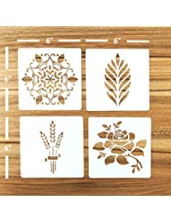 Güden Pack of 4 European Artisan Bread Stencils (StencilGroup1) 6 By 6''