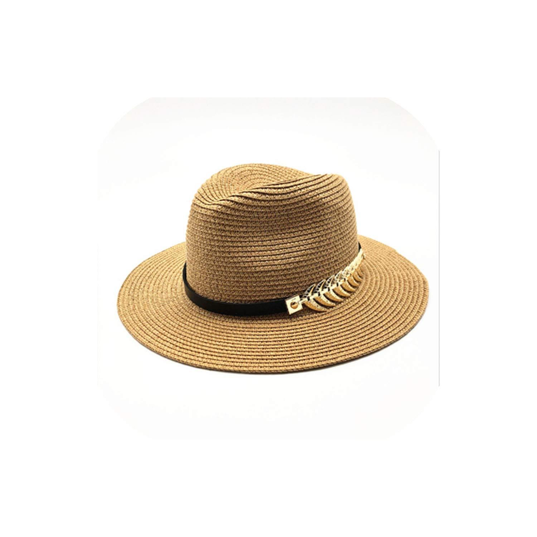 Summer British Belt Vintage Trilby Flat Brimmed Straw hat Shading Sun hat Lady Beach hat