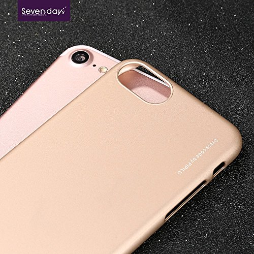 X-LEVEL Rubberized Thin Hard Phone Tasche Hüllen Schutzhülle Case für iPhone 7 - Gold