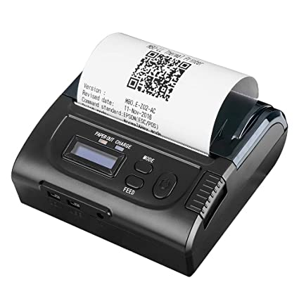 MUNBYN 80MM Bluetooth Mobile Thermal Receipt Printer with LED Indicator Micro-USB Printer Compatible with Android/iOS/Windows System POS Software ...